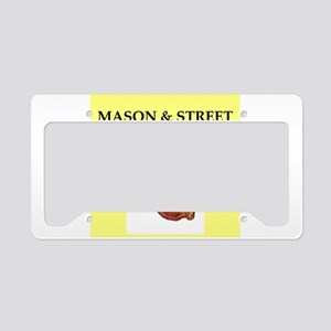 mason and street License Plate Holder