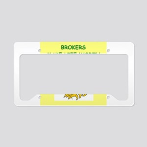 broker License Plate Holder
