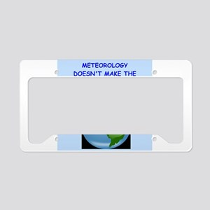 meteorology License Plate Holder