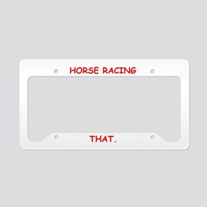 HORSERACING License Plate Holder