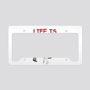 line and square dancing License Plate Holder