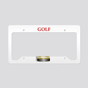 golfing joke License Plate Holder