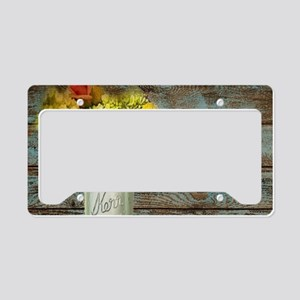 mason jar flowers barnwood License Plate Holder