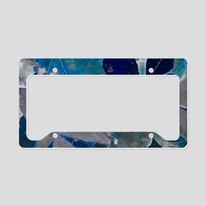 Fallen Leaves Abstract License Plate Holder