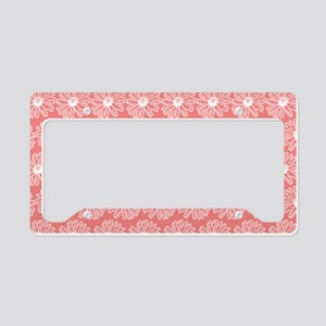 Light Coral Gerbara Daisy Pat License Plate Holder