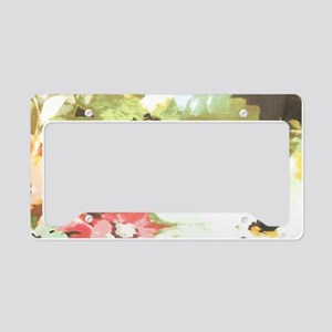 spring watercolor floral dais License Plate Holder