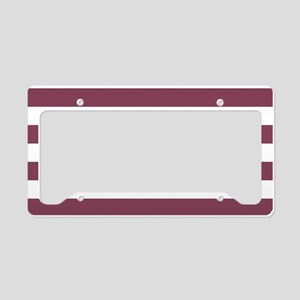 Purple, Mulberry: Stripes Pat License Plate Holder