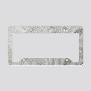 boho chic french lace License Plate Holder