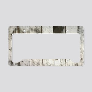 shabby chic whitewash wood License Plate Holder