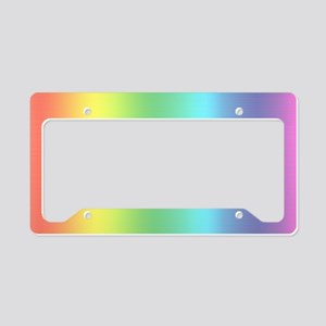 Rainbow Holograph License Plate Holder