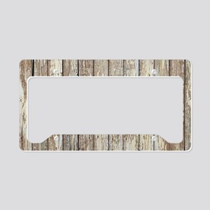 rustic country barn wood License Plate Holder