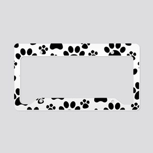Dog Paws License Plate Holder