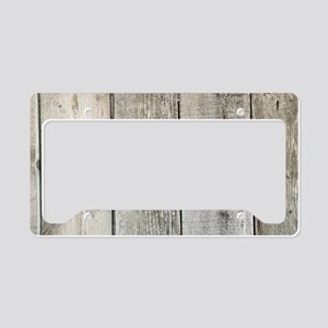 french country whitewashed wo License Plate Holder
