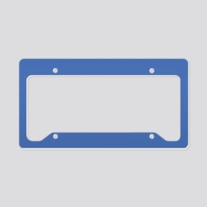 Blue License Plate Holder