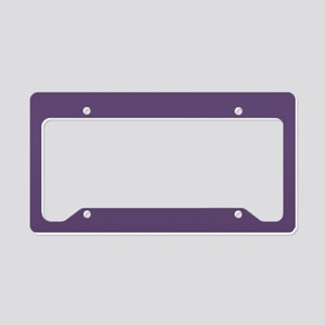 Purple License Plate Holder