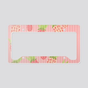 Pineapple sweet pink License Plate Holder