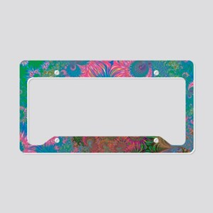 Abstract Art Corals License Plate Holder