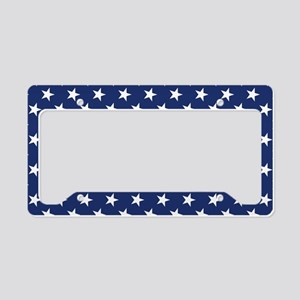 White Stars License Plate Holder