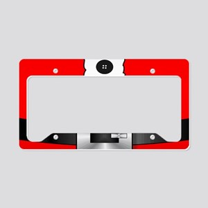 Christmas red santa suit License Plate Holder