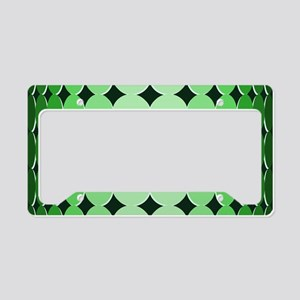 Optical Illusion Dots green License Plate Holder