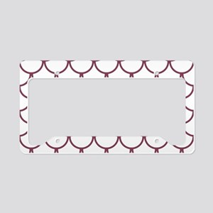 Fish Scales Pattern: Mulberry License Plate Holder