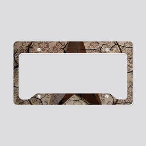 rustic texas lone star License Plate Holder