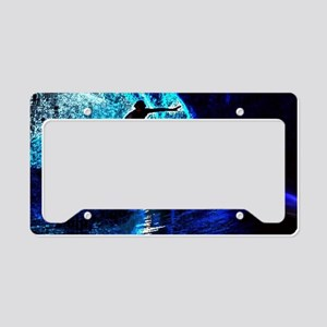 beach blue waves surfer License Plate Holder