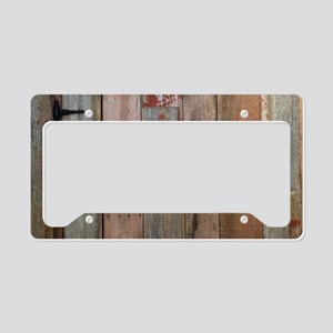 rustic western barn wood License Plate Holder
