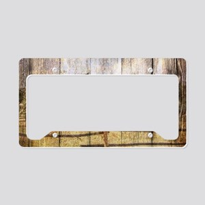 western country red barn License Plate Holder