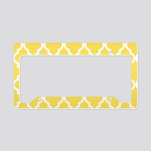 Yellow, Canary: Quatrefoil Mo License Plate Holder