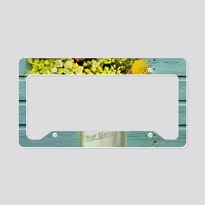 country mason jar flower License Plate Holder