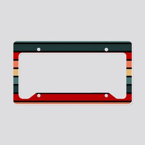 Multicolored Stripes: Red, Pe License Plate Holder