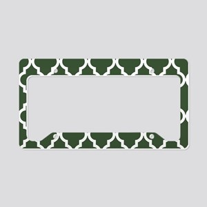 Green, Pine: Quatrefoil Moroc License Plate Holder