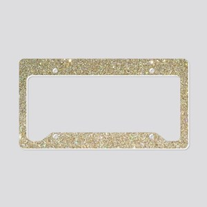 art deco gold glitter License Plate Holder