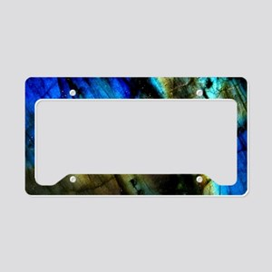 tribal bohemian marble turquo License Plate Holder
