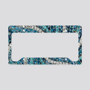 bohemian crystal teal turquoi License Plate Holder