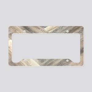 farmhouse geometric barn wood License Plate Holder