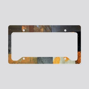 contemporary rusted metal ste License Plate Holder