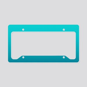 turquoise blue ombre License Plate Holder