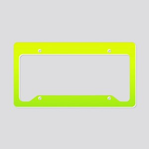 lime green yellow ombre License Plate Holder