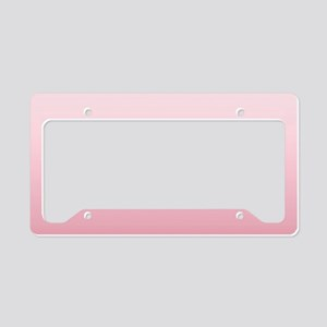 ombre blush pink License Plate Holder