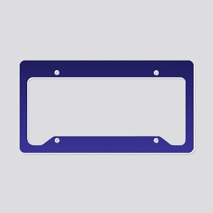 royal blue ombre License Plate Holder