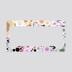 blue green pink circles License Plate Holder