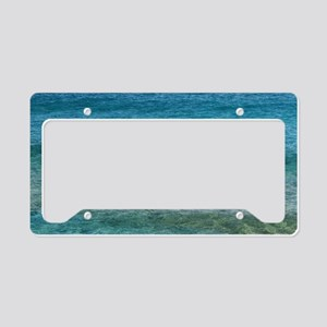 Blue Tropical Water License Plate Holder