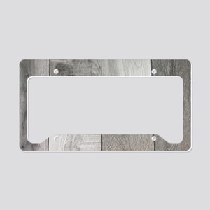 french white washed wood License Plate Holder