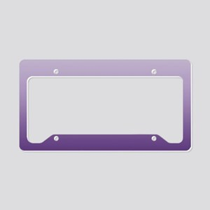 modern purple ombre License Plate Holder