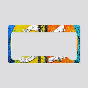 Number One Orange Yellow Blue License Plate Holder