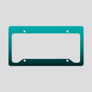 teal turquoise ombre License Plate Holder
