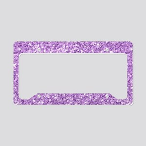 Purple glitter texture print License Plate Holder