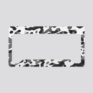 Abstract Pattern: Black & Whi License Plate Holder
